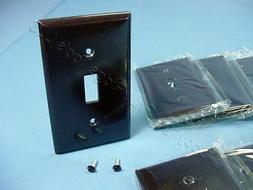 25 Cooper Brown Toggle Switch Flush Mount Plastic Wallplates