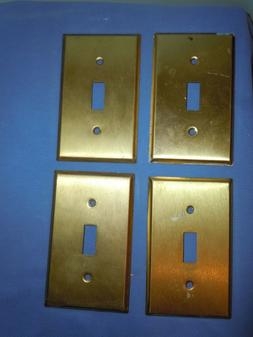 4 Solid Brass Switch Plates Switchplates Single Gang Mulberr