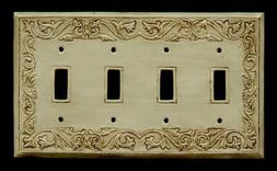 ANTIQUE ORNATE LIGHT SWITCH PLATE 4 - SWITCH / S-4