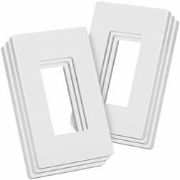 Bates- Screwless Decorator Wall Plates, Switch Covers, 6 Pac