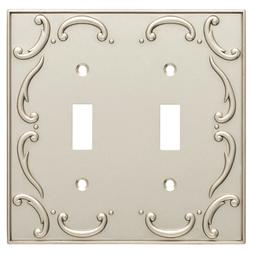 double toggle wall plate french lace nickel