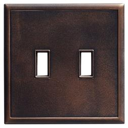 Hampton Bay Double Toggle Wall Plate - Oil Rubbed Bronze Lig