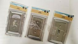 HAMPTON BAY - EMERY SATIN NICKEL OUTLET COVER  SALE!!!!