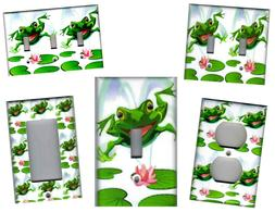 FROG ON LILY PAD FROGS HOME WALL DECOR LIGHT SWITCH PLATES A