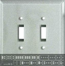Glass Silver  Switch Plates, Wall Plates & Outlet Covers