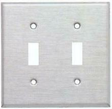Morris Products 83020 Stainless Steel Metal Wall Plates 2 Ga