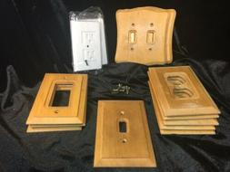 Amertac Light Switch Plates Wooden, Single, Double~unbranded