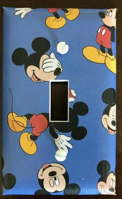 Mickey Mouse Disney Light Switch Cover Plates Blue Kids Room