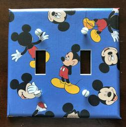 MICKEY MOUSE LIGHT SWITCH COVER PLATES FACES BLUE DISNEY KID