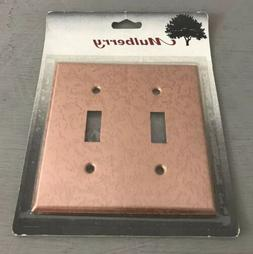 NEW Mulberry Wall Switch Plate Cover Copper Textured Double