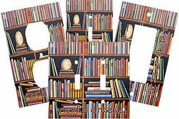 PERSONALIZED BOOKS ON BOOKSHELF LIBRARY LIGHT SWITCH PLATE C