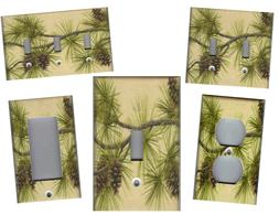 PINE CONES ON BRANCHES HOME DECOR LIGHT SWITCH PLATES AND OU