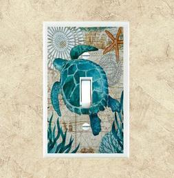Sea Turtle #2 Light Switch Plate Cover Switch Plates Bedroom