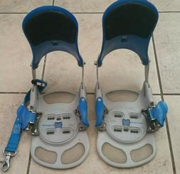 SWITCH STEP-IN SNOWBOARD BINDINGS BLUE GREY SIZE M/L WITH 4X