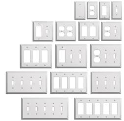 Wall Switch Plate Outlet Cover Toggle Duplex Rocker - Polish