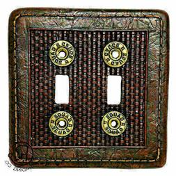 Western  Decorative Double Outlet Cover Switch Plates 12 Gau